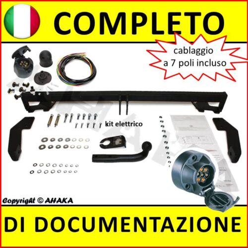 Gancio di traino fisso Fiat Doblo 2001-2010 kit elettrico 7-poli rimorchio