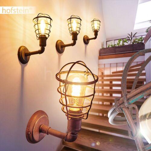 Retro Wand Lampen rostfarben Wohn Schlaf Zimmer Leuchten Flur Dielen Beleuchtung