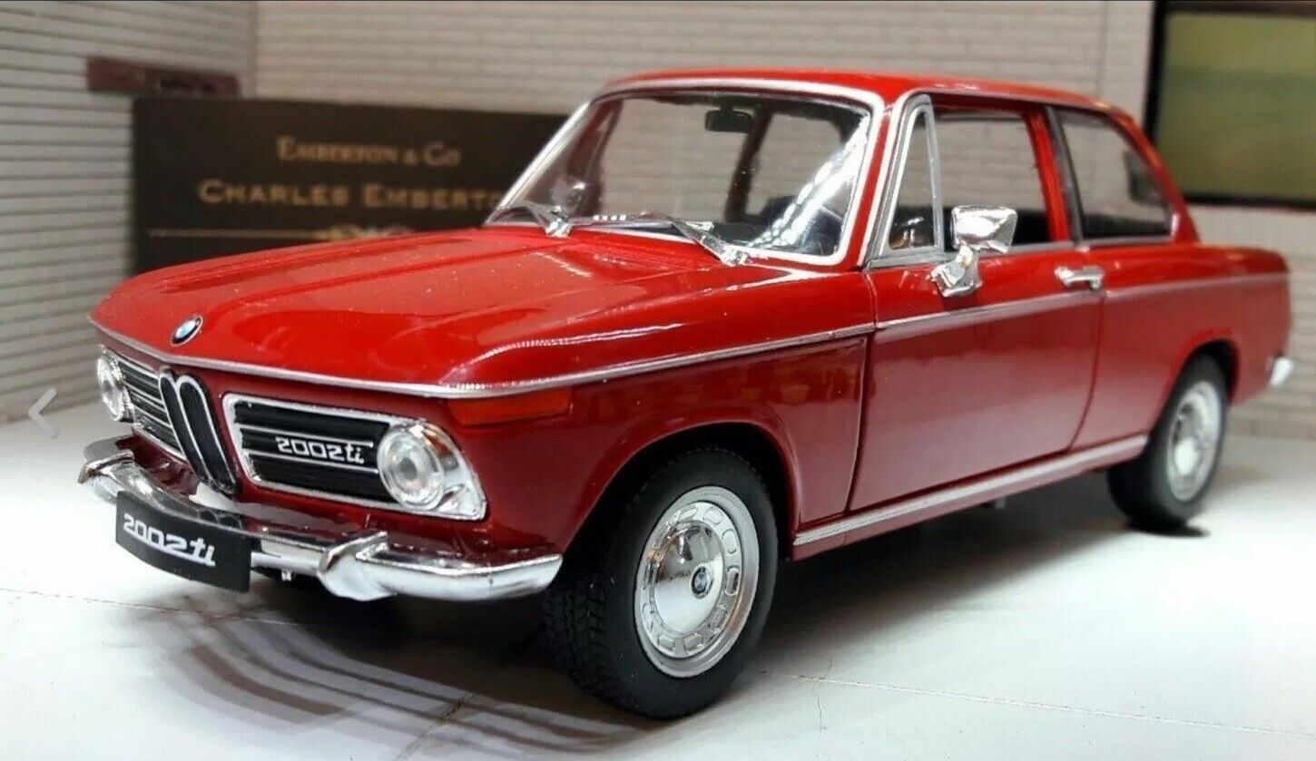 Bmw 2002 Ti Red Welly 1 24 Scale Diecast Model Car For Sale Online Ebay