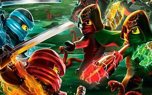Lego Ninjago Children S Tv Show Ninja Cartoon Wall Art Canvas Picture Prints Ebay