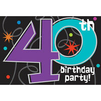 Over The Hill 40th Birthday Invitations (8) Party Supplies Stationery Cards