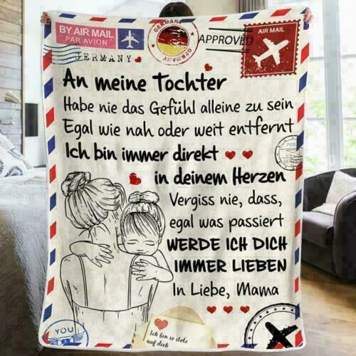 Briefe an meine Tochter Liebesdecke Druckdecke auf dem Bettgeschenk Heimdecke DE