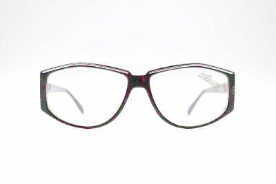 Vintage Silhouette M 1288 /10 C 2165 58[]14 135 Violett Grün Oval Brille Nos