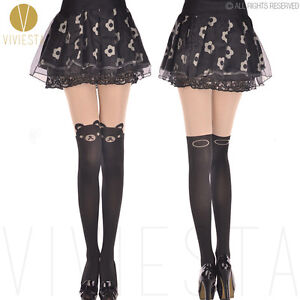 CUTE-TEDDY-BEAR-TATTOO-TIGHTS-Fancy-Dolly-Party-Animal-Tail-Stocking-Pantyhose