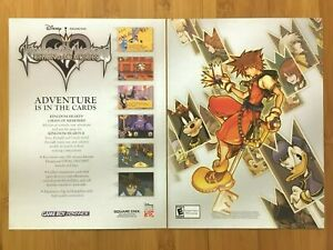 Kingdom Hearts: Chain of Memories GBA 2004 Print Ad/Poster Original Official Art
