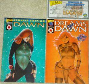 2 Wizard Exclusive Preview Sirius Comics- Dreams of Dawn & Genesis- J.M. Linsner