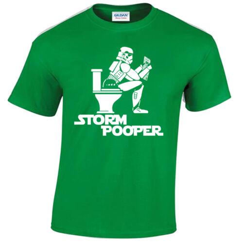 KIDS STORM POOPER T SHIRT FUNNY STAR DESIGN TROOPER WARS BANKSY Childrens