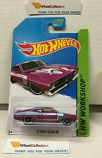 '73 Ford Falcon XB #238 * Rare Kmart Only PURPLE * Hot Wheels 2014 * B16