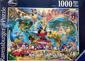 Ravensburger disney jigsaw puzzle disneys world map 1000 pcs 15785 image is loading ravensburger disney jigsaw puzzle disney 039 s world gumiabroncs Image collections