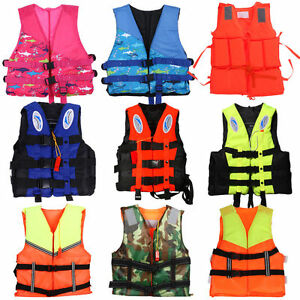 Polyester-Adult-Kid-Life-Jacket-Universal-Swimming-Boating-Ski-Foam-Vest-Whistle