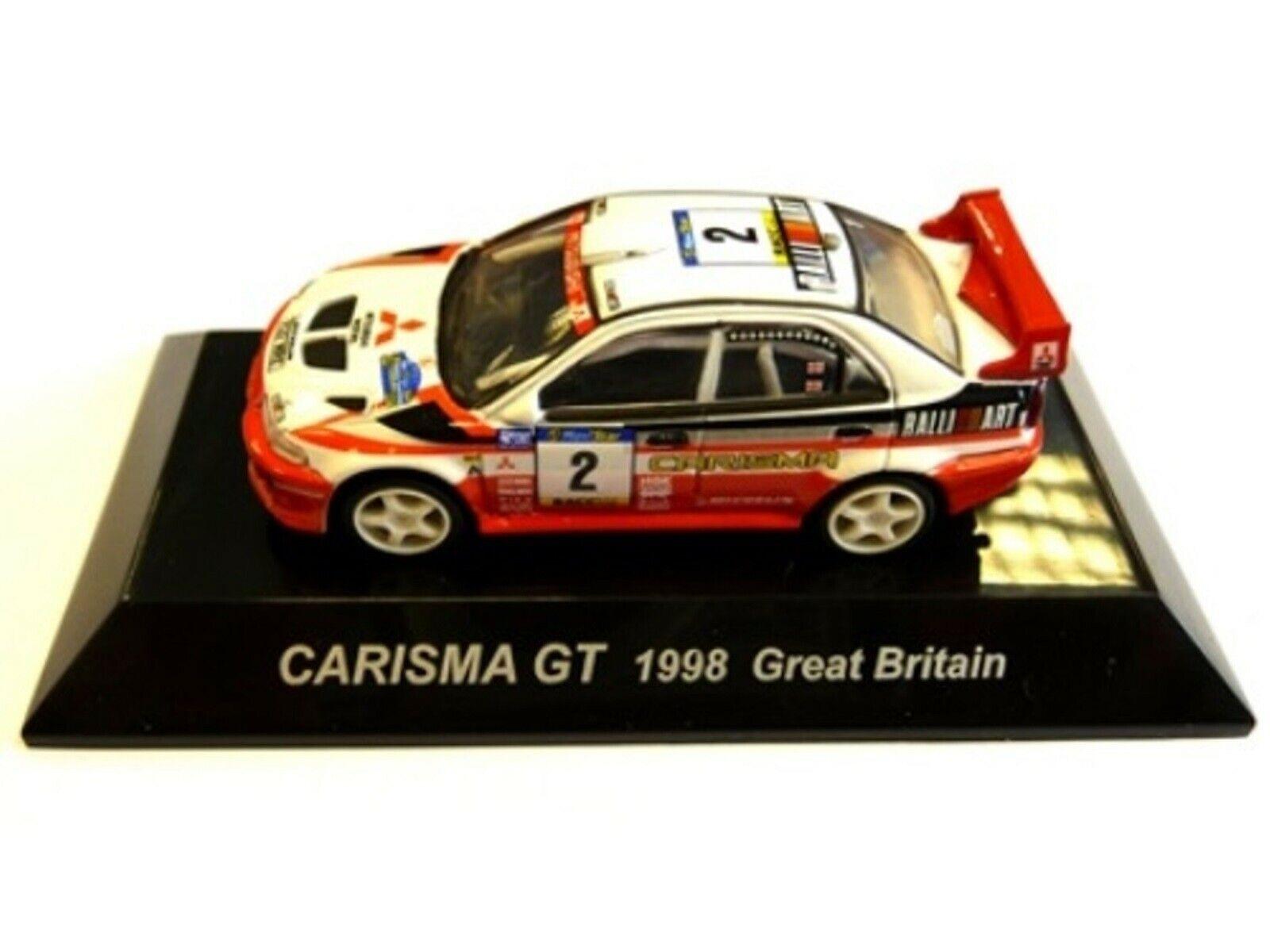 WOW estremamente raro MITSUBISHI LANCER Evo5 Burns RAC 1998 WRC 1 64 CM 'S KYOSHO