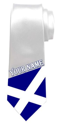 n/'importe quel nom Écosse Écossais Drapeau personnalisé Cravate texte les grands hommes de cadeau *