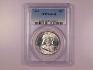 1960-PCGS-MS64-50C-Franklin-Half-Dollar-Uncirculated-Certified-Coin-EC1218