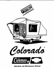 COLEMAN Popup Trailer Owners Manual- Colorado 1986 1987 1988 1989 1990 1991
