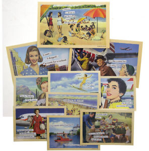 10pk-Anne-Taintor-4x6-Magnetic-Postcards-Set-Refrigerator-Funny-Retro-Comic-Art