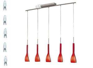 IOROT-Glas-Pendelleuchte-Pendellampe-Haengelampe-Glas-Rot-Weiss-G9-230V-Klassik