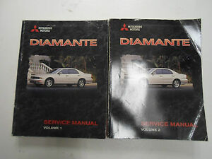1999 mitsubishi diamante service repair shop manual 2 volume set rh ebay com 2004 Mitsubishi Diamante 1997 Mitsubishi Diamante