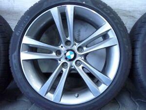 WINTERREIFEN-ALUFELGEN-ORIGINAL-BMW-DOPPELSPEICHE-397-F30-F31-F32-F33-225-45-R18