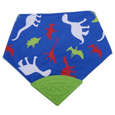 Baby Bandana Schal Handtuch Kopf Speicheltuch Dreieck Lätzchen Silikon Beißring