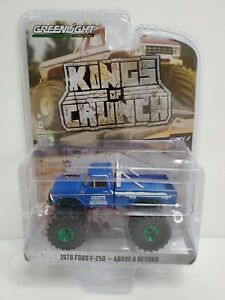 Rare-Greenlight-Kings-Of-Crunch-1978-F-250-Above-And-Beyond-Green-Machine-Chase