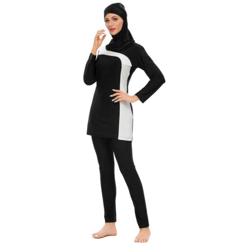 Burkini Muslim Women Hijab Swimwear Islamic Full Cover Swimsuit Arab Bathing Set