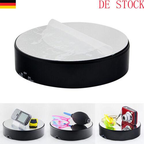 360 Grad Elektrischer Drehteller Präsentierteller Drehbühne Schmuck Uhren ABS DE