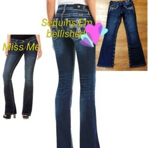 27 Embelli Bootcut Miss Me Jean Taille 18YqxAwR
