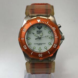 Roxy Quick Silver Womens RX220 Orange Band Quartz Analog Wristwatch