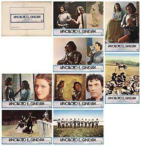 LANCILLOTTO E GINEVRA SET FOTOBUSTE 8 PZ. GRAAL 1974 LANCELOT DU LAC LOBBY CARD