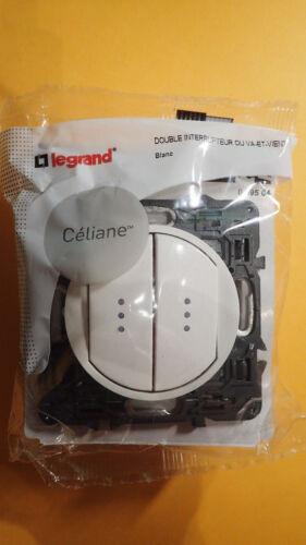 Double Interrupteur LUMINEUX avec voyant INCLUS Legrand CELIANE 99504 BLANC