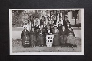 Postcard-Antique-CPA-Animated-Group-Folkloric-034-La-Savoy-034-Of-Railway-Workers