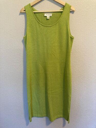 St John Collection 10 Knit Green Sleeveless Dress