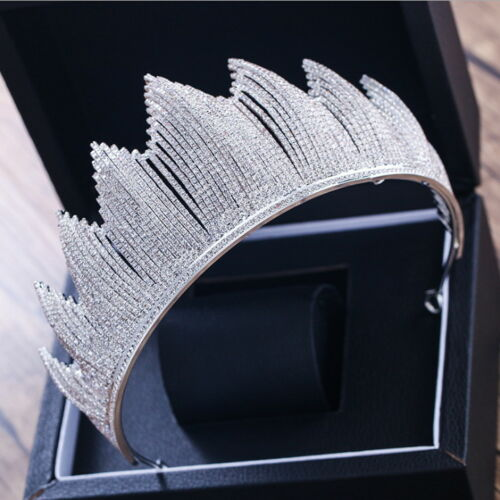 Full Crystal 7.5cm High Adult Wedding Bridal Party Pageant Prom Tiara Crown