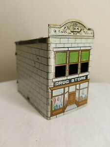 Group 10 Vintage 1914 West Bros Tin Schoolhouse Candy Container INV-V400