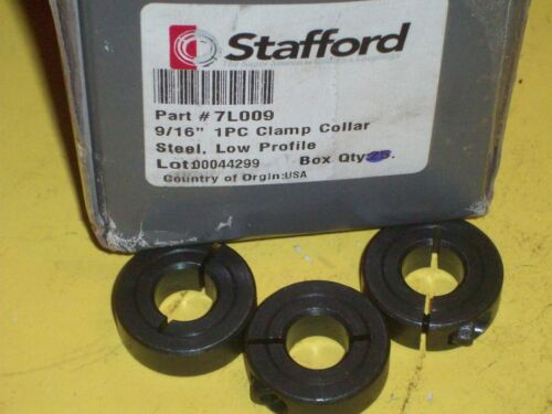 """3 NEW 7L009 STAFFORD 9//16/"""" 1 PC-CLAMP COLLAR  STEEL  LOW PROFILE FREE SHIPPING!!"""