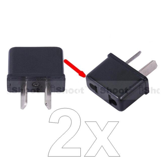 2pcs US America EU Europe to AU Australia AC Power Plug Adapter Travel Adaptor