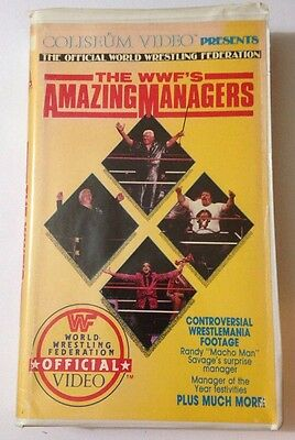 The Amazing Managers vhs WWF Coliseum Home Video wwe wrestling wcw NWA tna RARE
