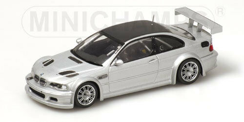 1 43 BMW M3 GTR  Street Version  2001  Siver with carbon roof