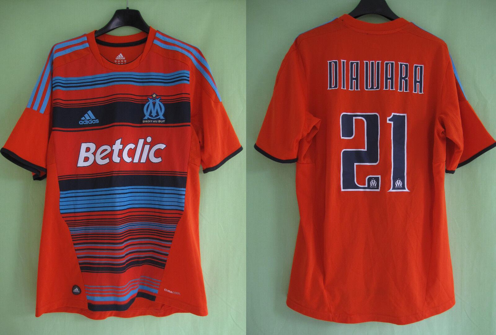 Maillot Olympique Marseille 2011 Third shirt DIAWARA  21 OM Betclic Vintage  M