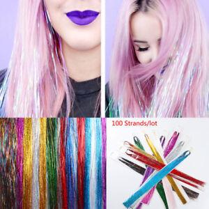 100-Strands-Hair-Tinsel-Bling-Silk-Hair-Flare-Strands-Glitter-Rainbow-Hair-Decor