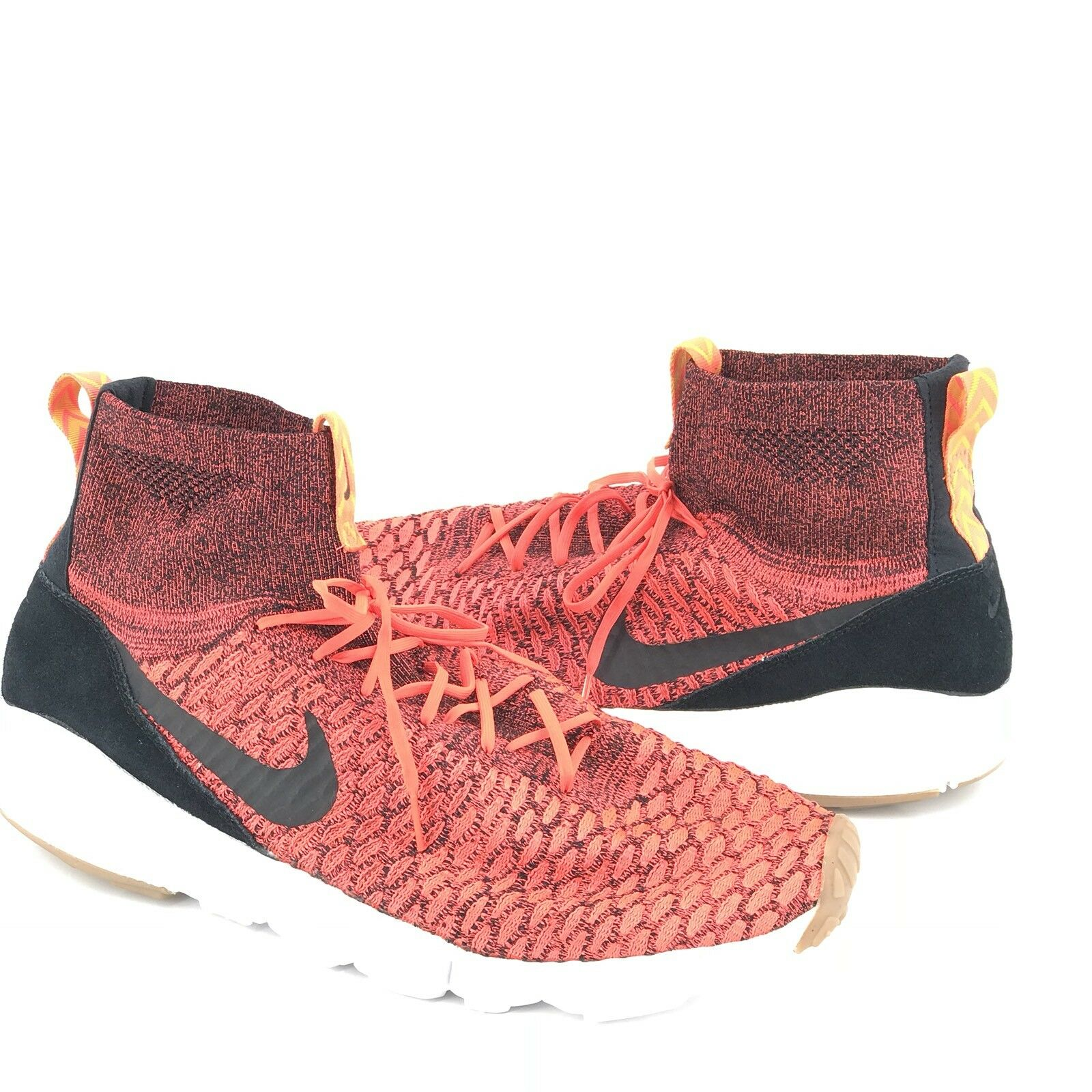 Nike Air Footscape Magista Flyknit Mens 14 Crimson Red Black Gold 816560-600