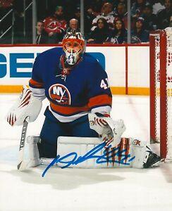 buy popular fef83 3bbb0 Details about JAROSLAV HALAK signed NEW YORK ISLANDERS 8X10 PHOTO COA B
