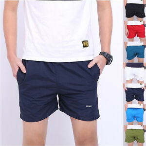 Fashion Men Basic Beach Short Pants Casual Sport Shorts ...