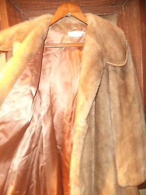 Vintage Faux Fur Coat Suede Rawley, How Much Does It Cost To Get A Fur Coat Cleaned