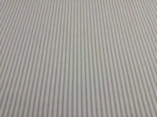 St Ives rayures kaki jour Designer Rideau Upholstery Craft Quilting tissu