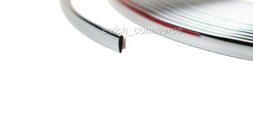 10mm x 2m CHROMLEISTE ZIERLEISTE UNIVERSAL LEISTE SELBSTKLEBEND FLEXIBEL AUTO