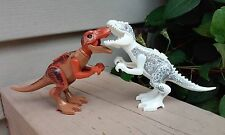 "Custom Jurassic World Indominus T-Rex & T-Rex 3.75"" Dinosaurs Minifigure Size 2p"