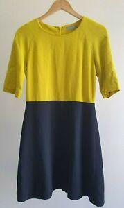 COS-Womens-Size-38-EUR-Casual-Work-Colour-Block-3-4-Sleeve-Sheath-Dress-EUC