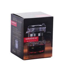 KAMJOVE Glass Gongfu Teapot Press Art Tea Cup Teapot with filter TP-140 300ml