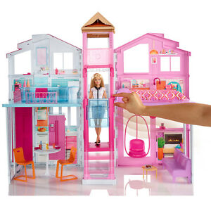 Barbie à trois étages 3 étages maison de ville poupées maison de ville Palace Girls Playset jouet